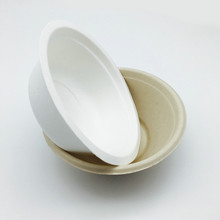 350ml sugarcane Bagasse water proof hot soup Round Bowl with FDA certified