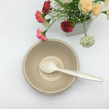 brown color wheat straw biodegradable salad bowl oil proof round bowl