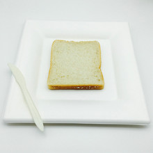 degradable sugar cane eco-friendly square shape toast plate