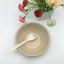 350ml 500ml natural sugarcane Bagasse molded pulp oil proof hot soup round bowl