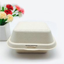 Natural Alternative unbleached Wheat Straw Fiber food to-go container box