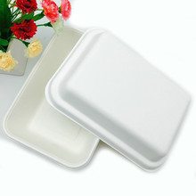 rectangle sugarcane bagasse 1000ml takeaway food packaging box
