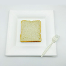Heavy Duty biodegradable microwaveable food tray square plate