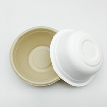 eco-friendly sugarcane wheat straw material microwaveable round bowl