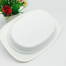 food grade oilproof microwaveable biodegradable bagasse pulp oval tray