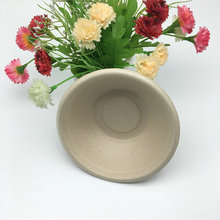 340ml 350ml leakproof wheat straw eco-friendly compostable round bowl