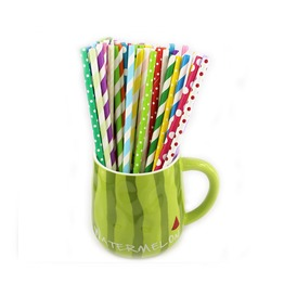 Eco paper straws recycled Biodegradable colorful Paper Straws
