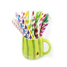 biodegradable Recycled Colorful Drinking Paper Straws