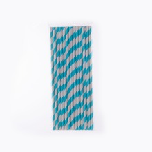 Eco recycled Biodegradable wrapped paper drinking straws with custom packaging