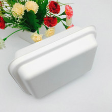 sugarcane bagasse pulp foodware biodegradable disposable takeout to go food try with lid