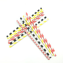 Paper Straws Party Decoration Striped Drinking Straws for party