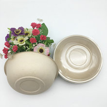 to-go food packaging natural material salad bowl with transparent lid