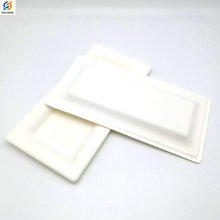 Good sale biodegradable disposable rectangles dinner cake fish plate