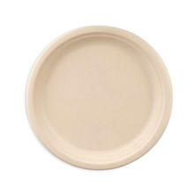 7inch 9inch round plate made from biodegradable plant fiber
