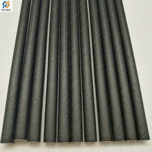 Custom Packing Biodegradable Plain Solid Black Paper Straws