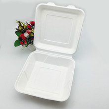 compostable eco-friendly 9inch togo lunch box use for food truck
