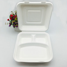 8inch Houseables Take Out Food Clamshell Container 100% Disposable Microwavable Food Boxes to Go