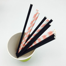 Biodegradable Striped Colorful Paper Drinking Straws for Party Holiday Halloween