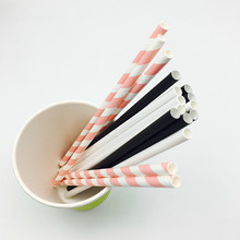 6x197mm Biodegradable Recycled Paper Straws for Party