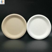 Cheap biodegradable disposable bagasse sugarcane pulp plate eco-friendly plates