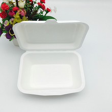 biodegradable fast food bagasse box togo container