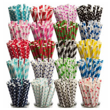 BioStraw Recycled Food Grade Soy Ink Printing Paper Straws for Party
