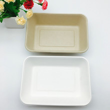 biodegradable natural wheat straw 1000ml food tray with BPI certified