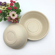 microwaveable 1000ml round salad bowl made from natural material wheat straw