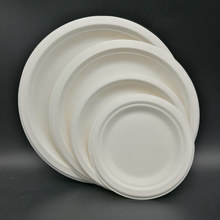 Eco-Friendly 100% Compostable Sugarcane Bagasse Heavy Duty Plates, FDA Approved, 9 inch 10 Inch