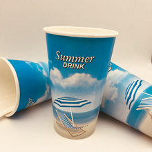 ​​Double PE coated paper cups cold drink paper cup single wall paper tea coffee juice cups