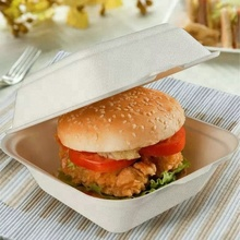 Customized High Quality Food Container Sugarcane Bagasse Burger Box