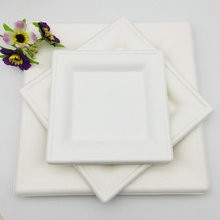 Biodegradable Microwavable Sugarcane Square Plate