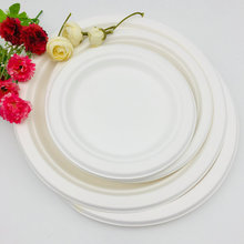 Round sugarcane plates,Disposable 100% biodegradable