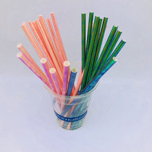 6*197mm Biodegradable Disposable Wrapped paper straws