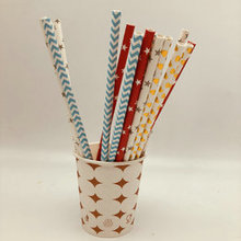 Factory Price New Design biodegradable colorful drinking paper straws