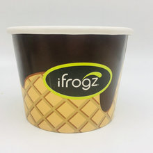 Biodegradable Custom printing disposable paper ice cream cup
