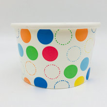 Custom Food Grade Disposable Ice Cream Paper Cup with Paper Lid