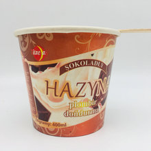 Double PE Ice Cream Packaging Paper Cups