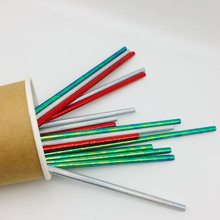 Eco-Friendly Disposable Color Striped Paper Straw for Party