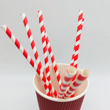 Striped Chevron 100% Eco-Friendly Paper Straw