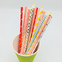 party favors disposable compostable paper drinking straw