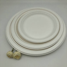 Recycled Biodegradable bagasse Pulp Paper Oval Round Plate