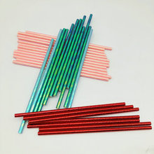 Wholesale High Quality Coloful  Disposable Biodegradable Party Striped Paper Straws