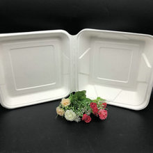 Eco Friendly Bagasse Dinnerware Disposable Clamshell Food Container