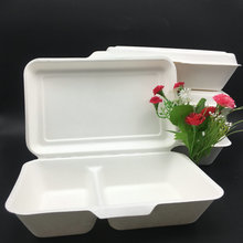 Take Away Biodegradable Bagasse Clam Shell Box