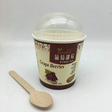 Printed Takeaway Yogurt Disposable Biodegradable Paper Cup With Lid paper cup disposable paper cup