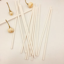 Environment-friendly white biodegradable disposable paper straw