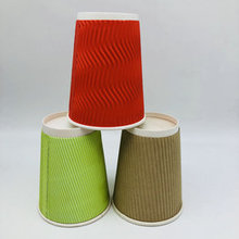 Biodegradable ripple wall paper cups for hot Drinks Beverage Cups