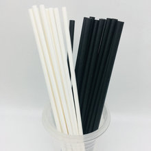 Eco-friendly black and white birthday party paper straw