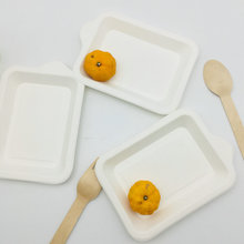 Square Wedding Dessert Plates Disposable Bagasse Party Plates